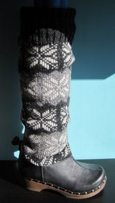Confession: I have mutant calves. In order for them to fit any boots, I have to buy the boots that are like 5 sizes too big OR (and this is actually what I do) I buy my normal size and pay extra to get them stretched. These fix that problem - a sweater for your calves and leather for your feet. Heaven.
