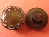 11 kleine KNÖPFE dunkelbraun 12mm (6527-4) Knopf