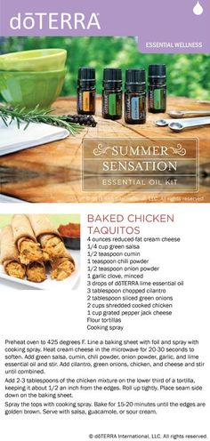 Chicken Taquitos - doTerra version (a lot like others I have made so these have to be awesome)