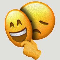 'Emoji - Sad Face under Happy Mask' Greeting Card by hyperdeath Emoji Wallpaper Iphone, Simpson Wallpaper Iphone, Funny Phone Wallpaper, Sad Wallpaper, Iphone Backgrounds, Wallpaper Backgrounds, Emoji Images, Emoji Pictures, Sad Pictures