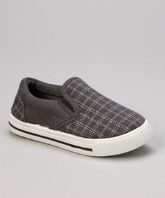 Another great find on #zulily! Mine Gray Plaid Slip-On Sneaker by Mine #zulilyfinds