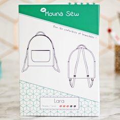 Patron couture sac à dos Lara Mouna Sew. 1 patron = 1 video pas à pas sur Youtube ! Container, Sewing, Patterns, Mini, Couture Sac, Cotton Canvas, Haberdashery, Lingerie, Block Prints