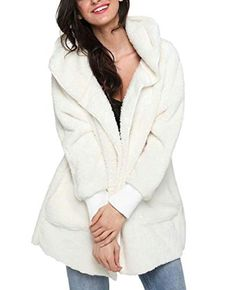 Women s Casual Oversized Open Front Hooded Draped Pockets Cardigan Coat 0a1d4ea11