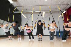 TRX Suspension Training.   Fantastic workout!!