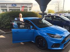 Essex Ford's first All-New Ford Focus RS to be delivered! We certainly hope Mandy Wheeler feels as happy as she looks! Drive Online, New Ford Focus, Focus Rs, Driving Test, Feels, Plate, Brand New, Cakes, Happy