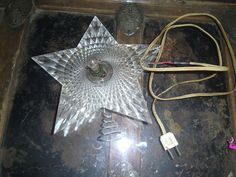 Vintage Acrylic Christmas Tree Star Topper Holiday Decoration Collectible