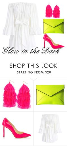"""Glow in the Dark Party Outfit"" by sydneymarkell ❤ liked on Polyvore featuring Humble Chic, Rebecca Minkoff and Chicwish"
