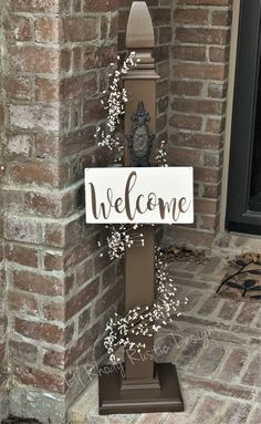 Decorative Porch Post, Welcome Sign Post