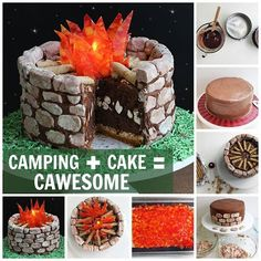 Camping cake - Kitchen Fun With My 3 Sons