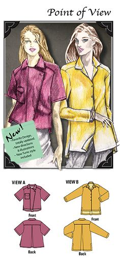 wearable art sewing patterns, trip pieced jacket to plus size ...
