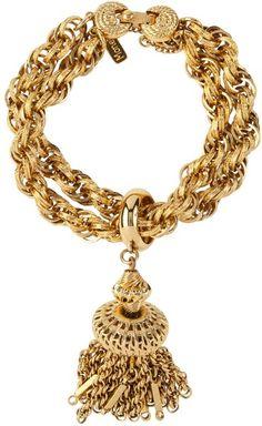 Breathtaking! ... Susan Capan Vintage Monet Chunky Tassel Bracelet - Lyst