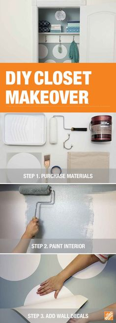 It's easy to brighten up your closet. Grab your brushes, rollers and tape, and check out our step-by-step ideas for updating your closet on The Home Depot Blog. Pictured here is Behr Watery HDC-CT-26.