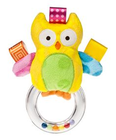 Loving this Yellow Owl Ring Rattle on #zulily! #zulilyfinds