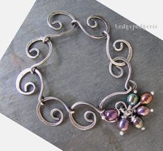 Sterling Silver and Freshwater Pearls Spiral by hodgepodgerie2, $105.00