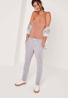 Missguided - Straight Across Bodysuit Pink