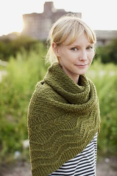 Green shawl for fall.