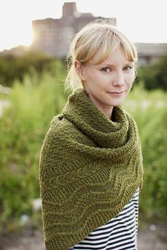 Green shawl for fall.