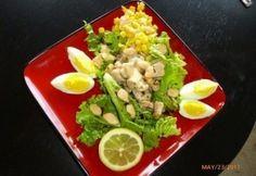 Könnyű saláta fügés-mangós balzsamecettel Cobb Salad, Mango, Food, Meals, Yemek, Eten