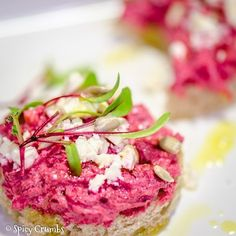 Pomazánka nebo salátek z červené řepy - Spicy Crumbs Tuna, Detox, Spicy, Food And Drink, Fish, Meat, Dinner, Vegetables, Cooking