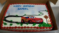 Lightning mcqueen birthday cake. #cars
