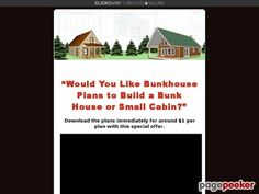 awesome Small Cabin and Bunk House Plans and Blueprints