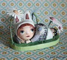 Lapinous OOAK doll by chloeremiat on Etsy
