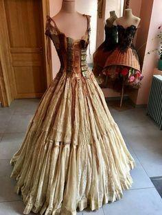 Steampunk Book corset Gown