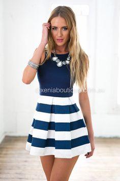 Stripe Skirt Dress