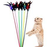 $2.08  - Yonger Pet Toy Wand Cat Funny Cat Pole Teaser Wand Cat Interactive Funny Sticks for Cat 5pcs Colorful *** Learn more by visiting the image link. (This is an affiliate link) #CatToys