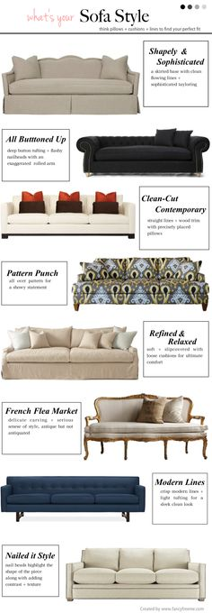 What's your Sofa Style?? \\ FancyFreeMe