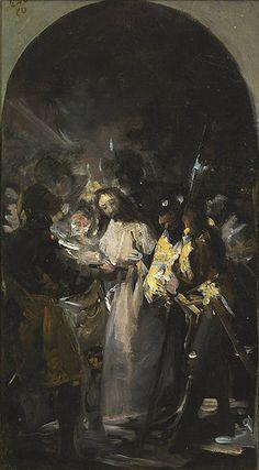 Sketch for The Arrest of Christ - Francisco de Goya y Lucientes Francisco Goya, Spanish Painters, Spanish Artists, Religious Paintings, Religious Art, Art Espagnole, Ouvrages D'art, Biblical Art, Arte Horror