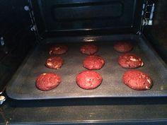 Red velvet chocolate chip cookies- step 3