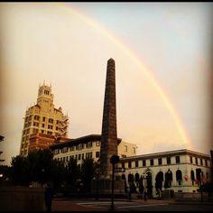Rainbow over Vance Memorial.
