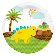 Little Dinosaur Party Dessert Plates (8)