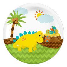 Little Dinosaur Party Dessert Plates (8)