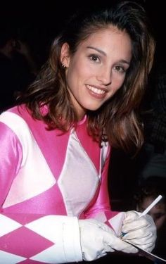 MMPR Pink - Amy Jo Johnson. Still a lot of people's favourite Pink Ranger, and probably the workingest actor of all Rangers.