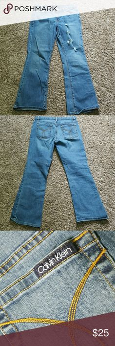 ☆SALE☆ Calvin Klein Flare Jeans Worn a couple of times. Says 10R but I'd say fits more like an 8R Calvin Klein Jeans