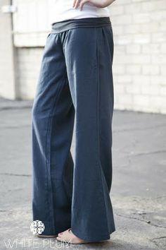Oceanside Linen Pants | White Plum