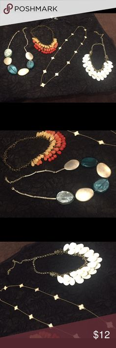 Bundle of necklaces! 4 necklaces that still have a wow effect. Some from Francesca, imitation of Van Cleef, and statement necklace bought in boutique. Jewelry Necklaces