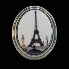 Eiffel Tower wall plaque by la Mesure du Temps. porcelain rimmed with pewter. On the rear is a fitting for wall hanging. Made in France. Wall Plaques, Pewter, Porcelain, France, Gifts, Decor, Presents, Dekoration, Decoration