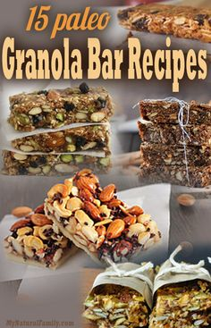 Low carb crunchy snacks Low carb granola The Best Paleo Granola Bars Recipes(Paleo Granola Kids) Paleo Granola Bars, Paleo Bars, Healthy Bars, Healthy Snacks, Paleo Recipes, Real Food Recipes, Cooking Recipes, Yummy Food, Bar Recipes