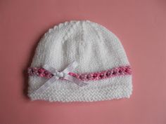 Ravelry: Julietta Baby Hat pattern by marianna mel Baby Hat Knitting Patterns Free, Baby Sweater Patterns, Dishcloth Knitting Patterns, Baby Hats Knitting, Crochet Baby Hats, Free Knitting, Knitted Hats, Crochet Patterns, Baby Patterns