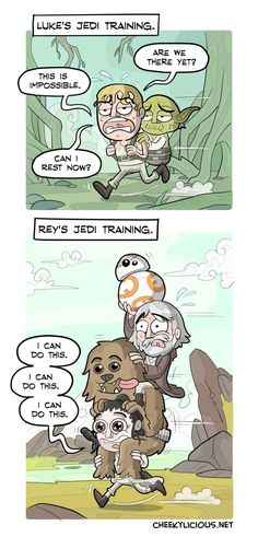 This should kill fan theories that Rey and Luke are related.