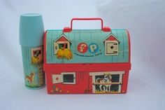 Vintage lunchbox and flask.  I bought one at an antique shop.  It is so sweet and innocent.