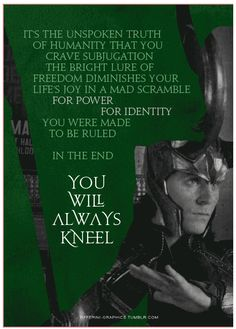 In the end you will always kneel.