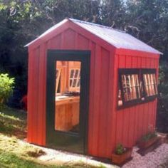 Planning To Build A Shed? Now You Can Build ANY Shed In A Weekend Even If You've Zero Woodworking Experience! Start building amazing sheds the easier way with a collection of shed plans! 6x8 Greenhouse, Shed House Plans, Wooden Greenhouses, Build Your Own Shed, Shed Kits, Wooden Sheds, Post And Beam, Diy Shed, Outdoor Sheds