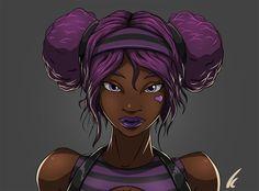 Afbeeldingsresultaat voor black anime characters female