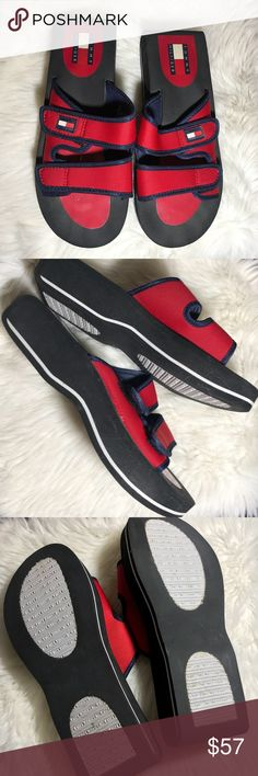 93d050f77 Tommy Hilfiger Retro 90 s Thick Soles Sandals SZ 8 Tommy Hilfiger Women  Vintage Retro Sandals Slides