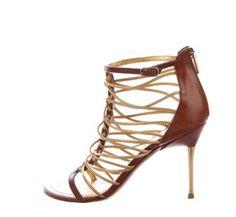 EMILIO PUCCI  Highheel Emilio Pucci, Gold, Sandals, Luxury, Shoes, Fashion, Get Tan, Moda, Shoes Sandals