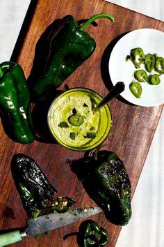Roasted Jalapeno Poblano Pesto - #pesto #dip #appetizer